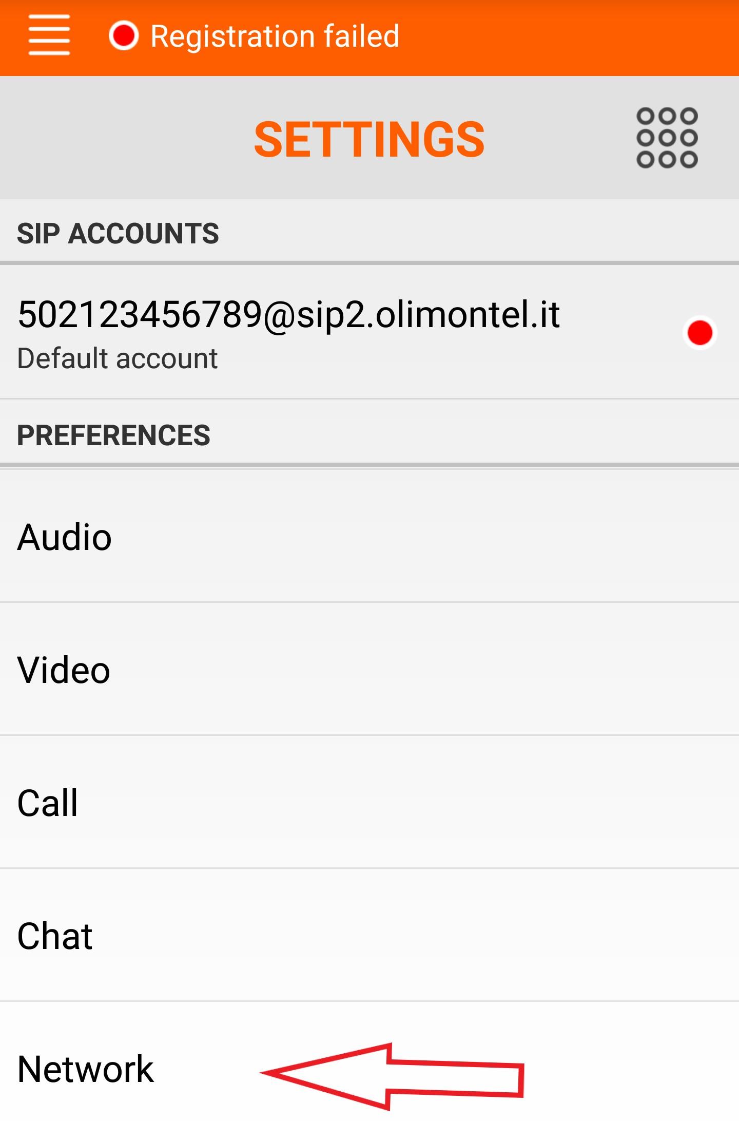 Linphone configurazione