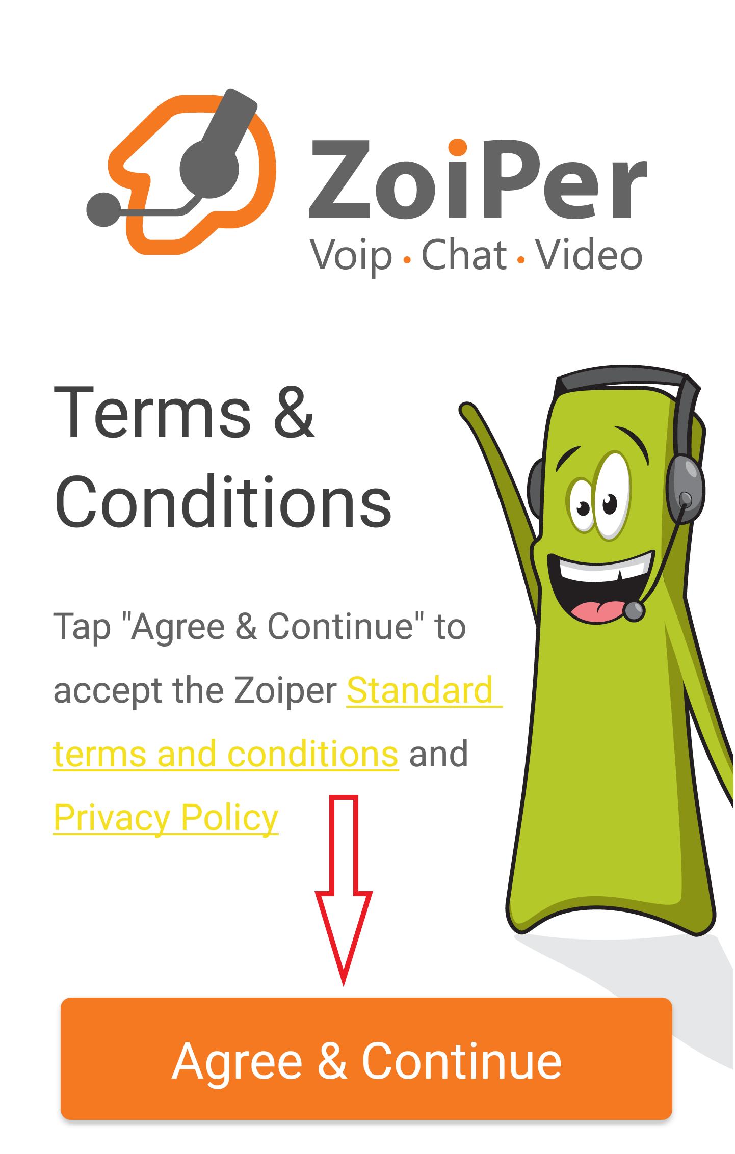 zoiper configurazione account
