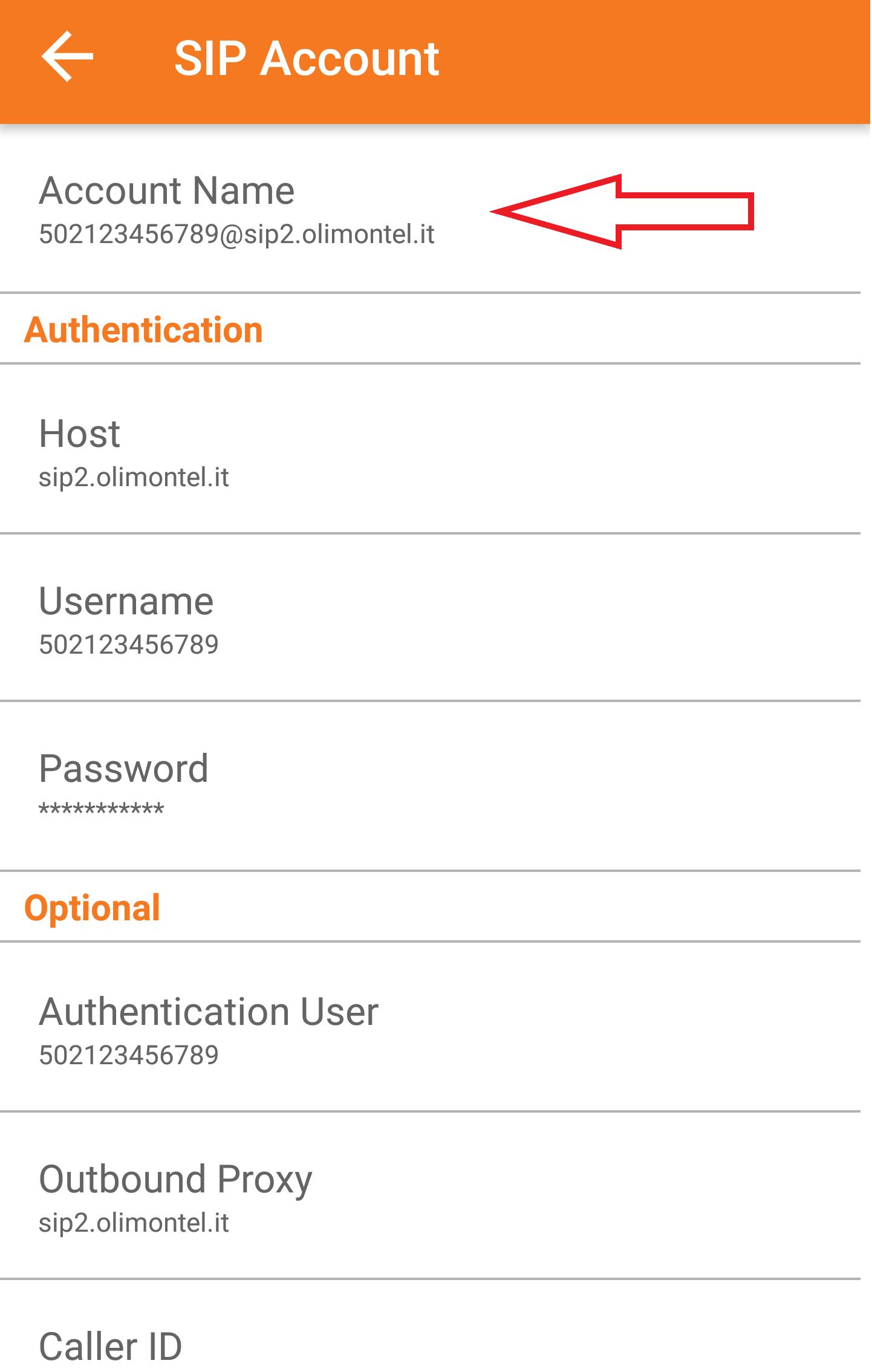 zoiper user password