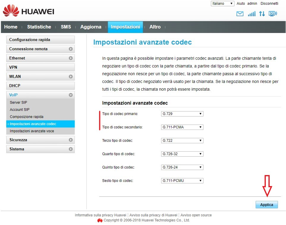 Codec Huawei OlimonTel