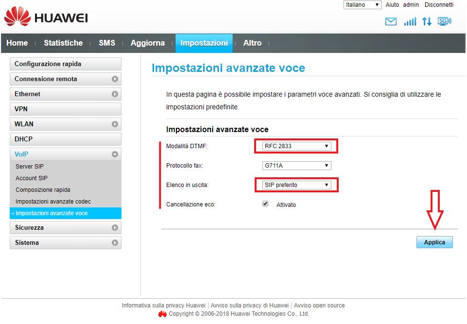 Avanzate Voce Huawei OlimonTel