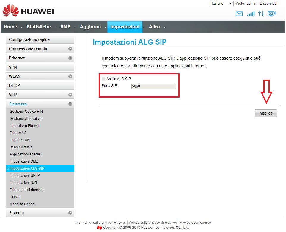Sip Alg Huawei