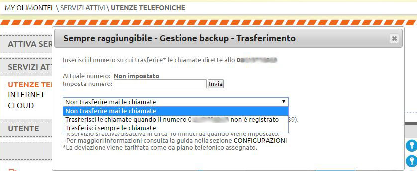 inserimento backup voip