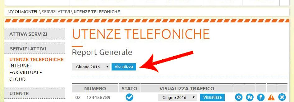 report generale utenze telefoniche