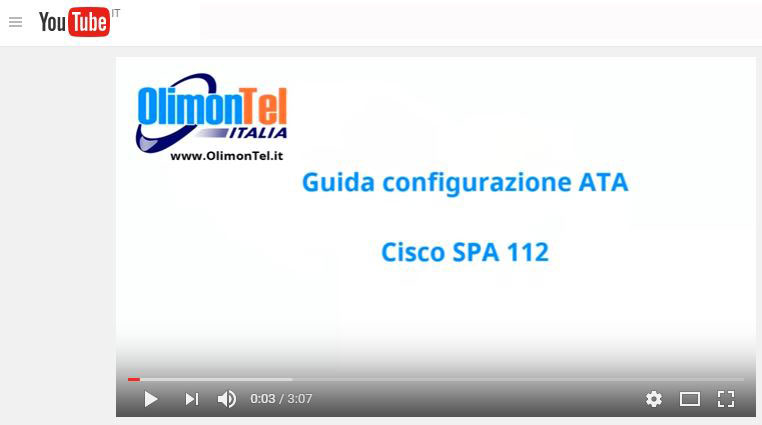guida cisco ata youtube
